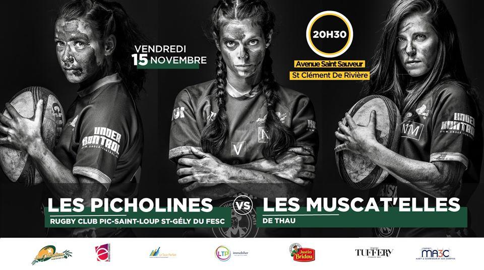 Picholines : 15-11-19 A domicile contre les Muscat'elles